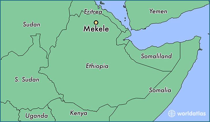 Where is Mekele Ethiopia Mekele Tigray Map WorldAtlascom