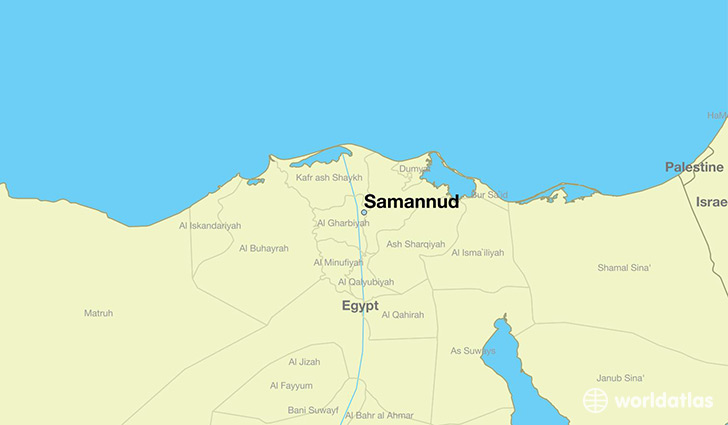 Where is Samannud Egypt Samannud Muhafazat al Gharbiyah Map