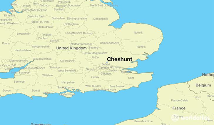 Where is Cheshunt England Cheshunt England Map WorldAtlascom