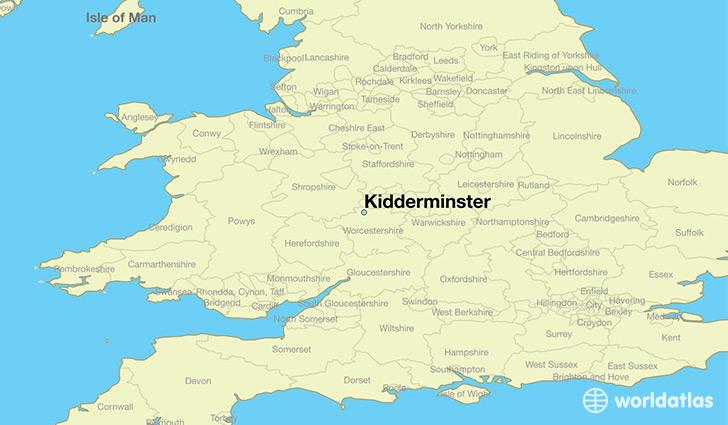 Map Of Kidderminster Where is Kidderminster, England? / Kidderminster, England Map