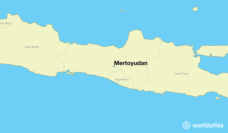 map showing the location of Mertoyudan