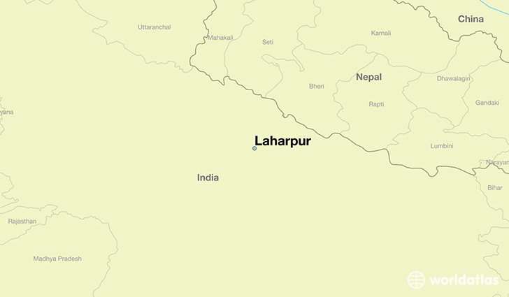 map showing the location of Laharpur