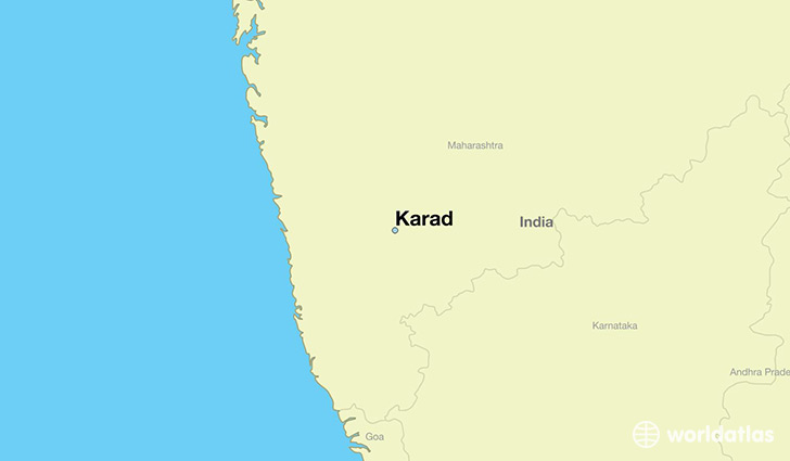 map showing the location of Karad