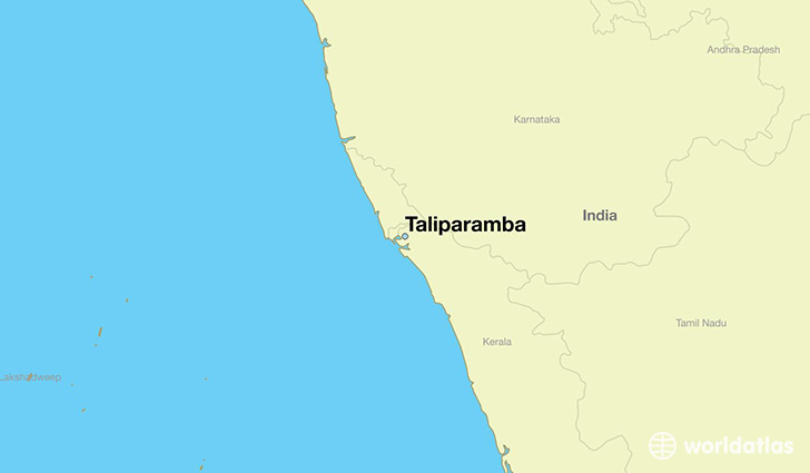 map showing the location of Taliparamba