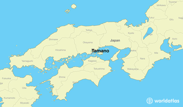map showing the location of Tamano