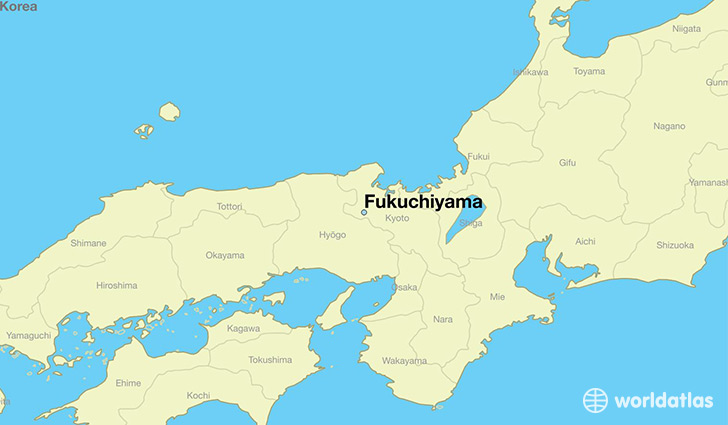 map showing the location of Fukuchiyama