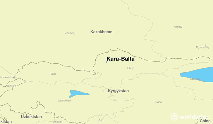 map showing the location of Kara-Balta