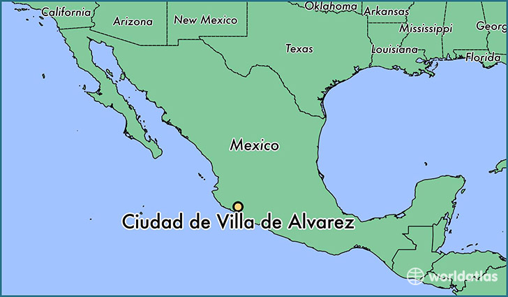 map showing the location of Ciudad de Villa de Alvarez