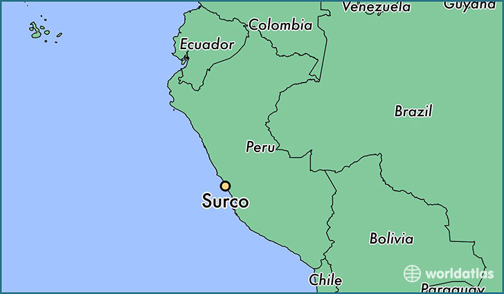 map showing the location of Surco