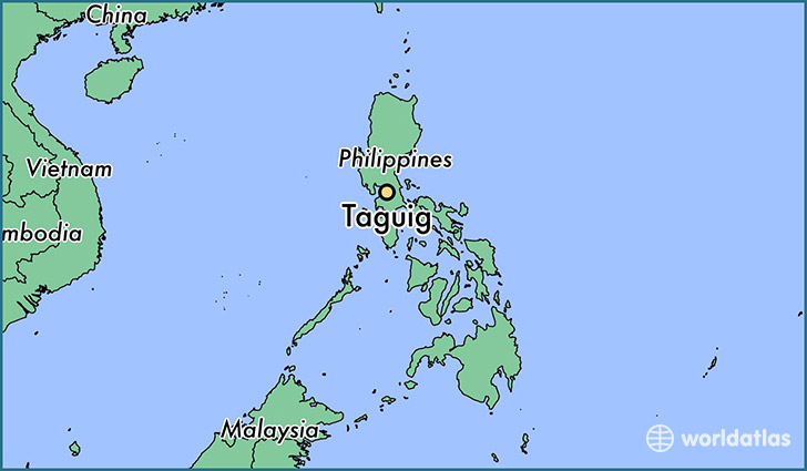map showing the location of Taguig