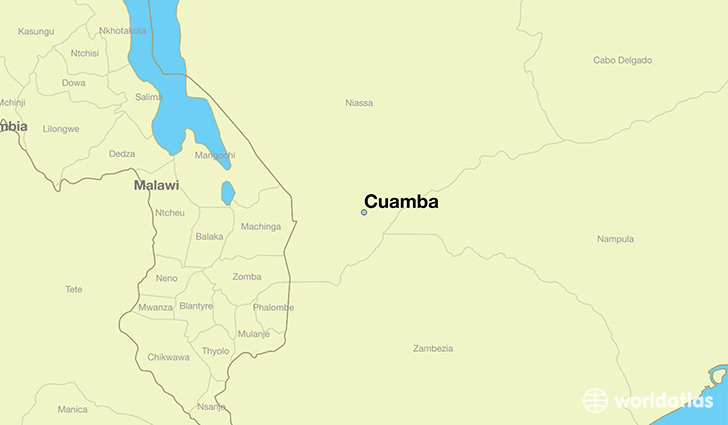 map showing the location of Cuamba