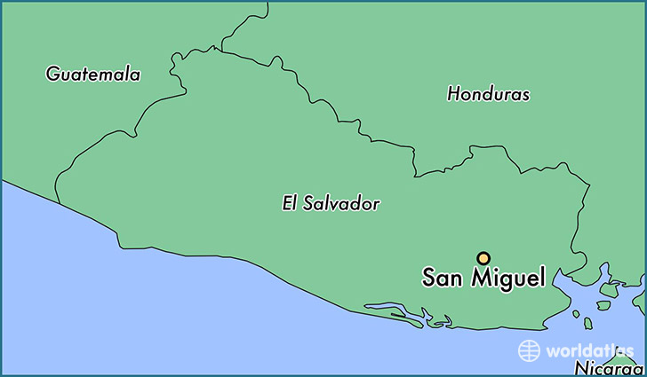 map showing the location of San Miguel