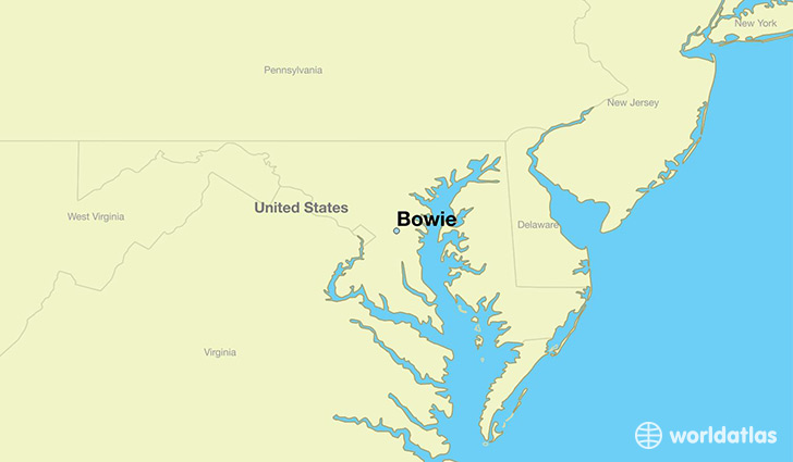 map showing the location of Bowie