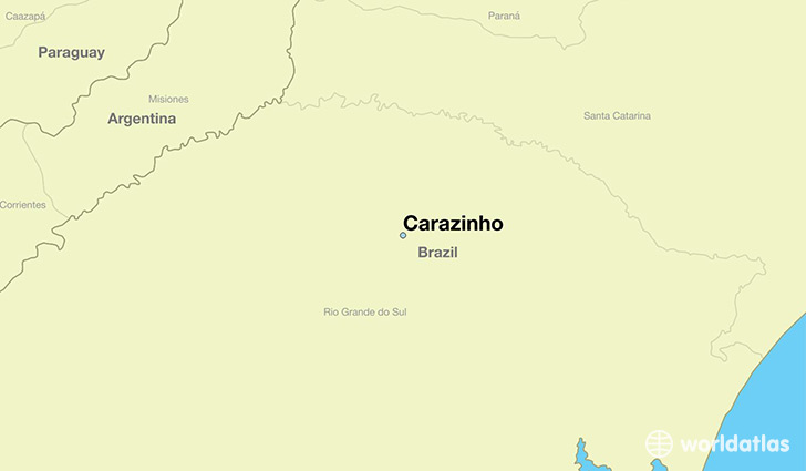 map showing the location of Carazinho