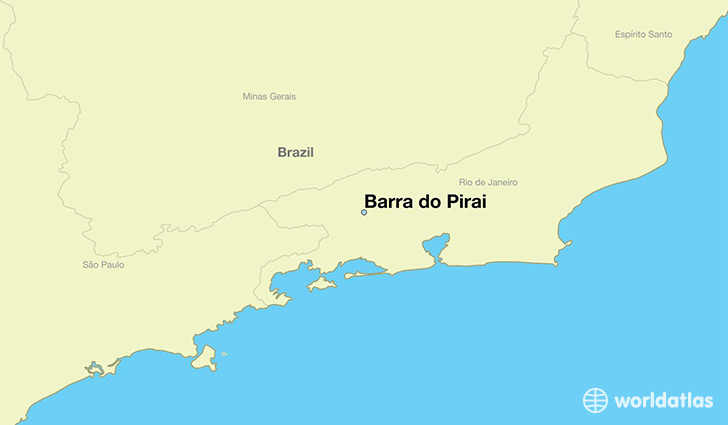 map showing the location of Barra do Pirai