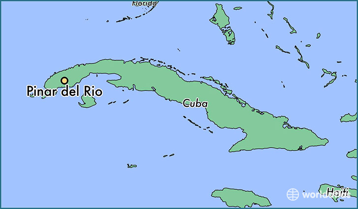 map showing the location of Pinar del Rio