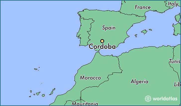 map showing the location of Cordoba