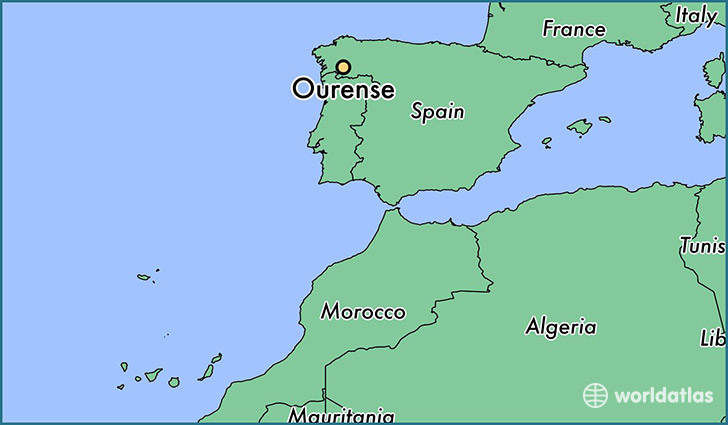 map showing the location of Ourense