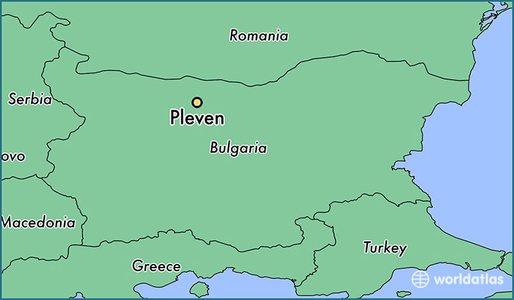 map showing the location of Pleven