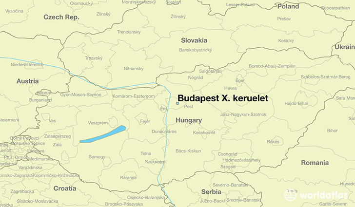 map showing the location of Budapest X. keruelet