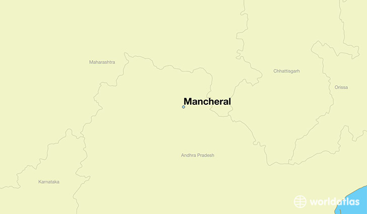 map showing the location of Mancheral