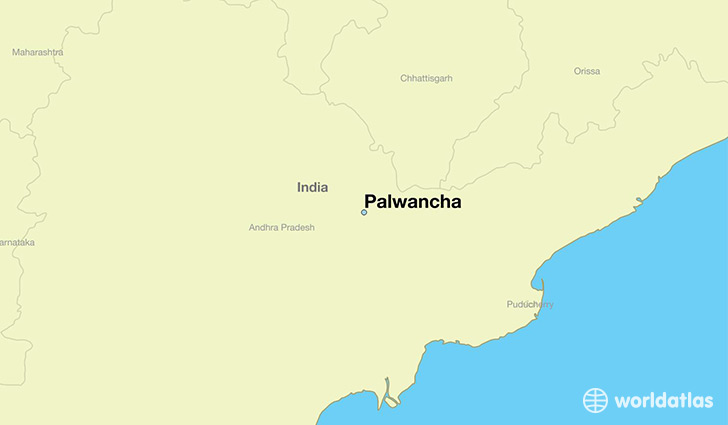 map showing the location of Palwancha