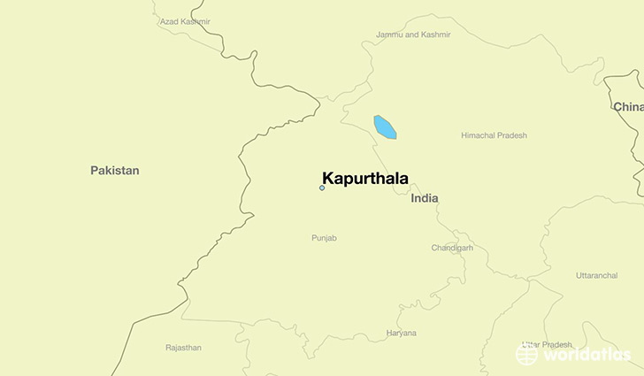 map showing the location of Kapurthala