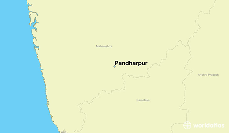 map showing the location of Pandharpur