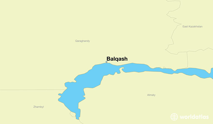 map showing the location of Balqash