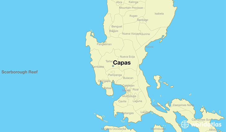 map showing the location of Capas