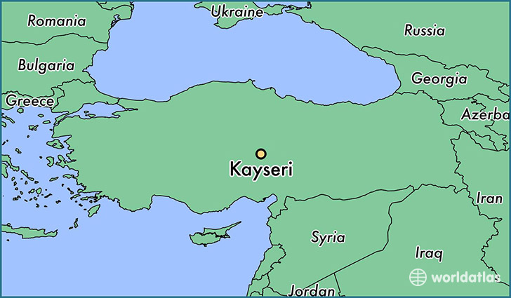 map showing the location of Kayseri