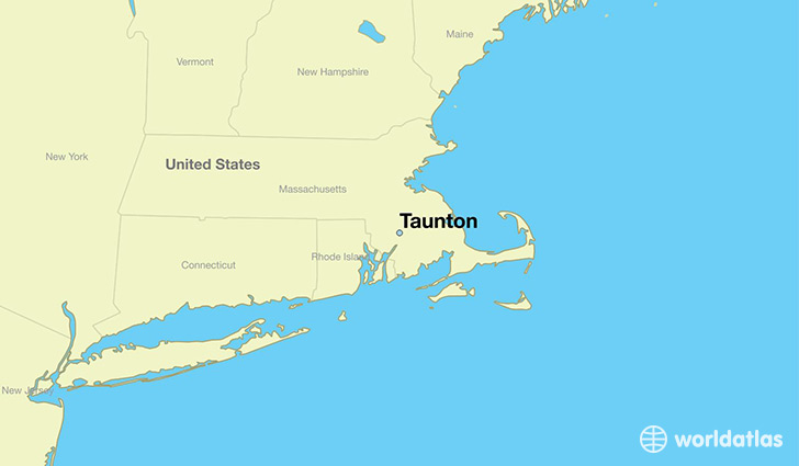 map showing the location of Taunton