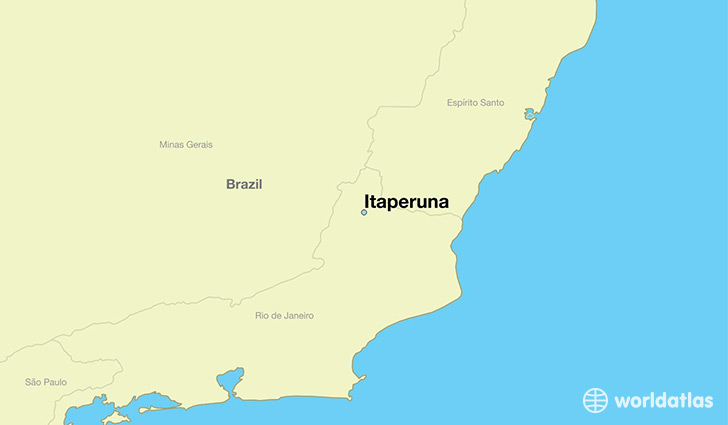 map showing the location of Itaperuna