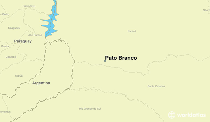 map showing the location of Pato Branco