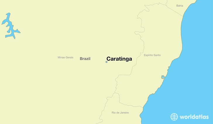 map showing the location of Caratinga