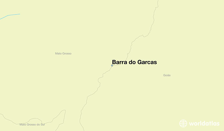 map showing the location of Barra do Garcas