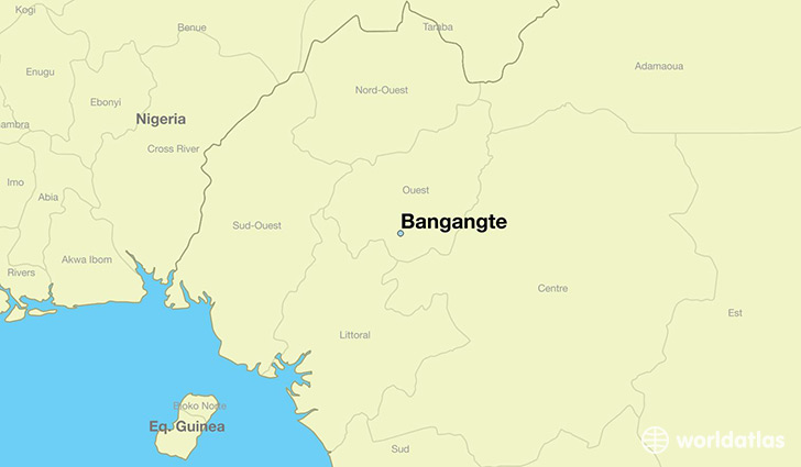map showing the location of Bangangte