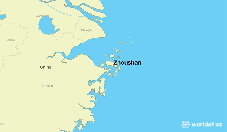 map showing the location of Zhoushan