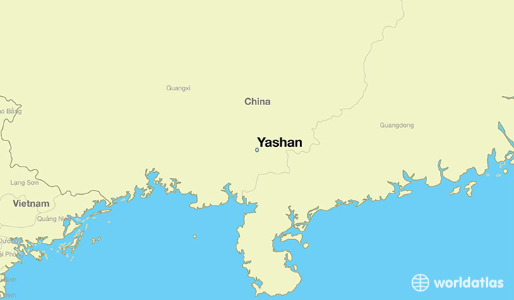 map showing the location of Yashan