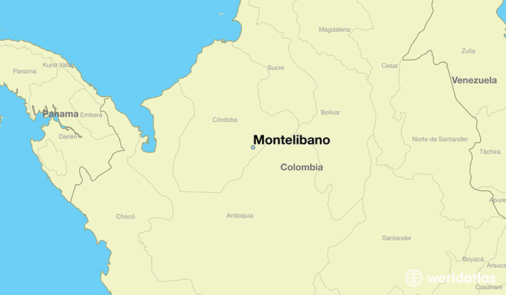 map showing the location of Montelibano