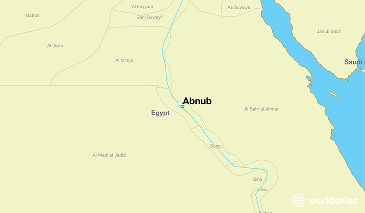 map showing the location of Abnub