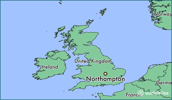 Where is Northampton England Northampton England Map