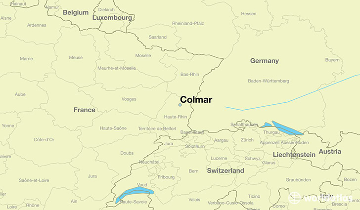 Where Is Colmar France Colmar Alsace Map Worldatlas Com