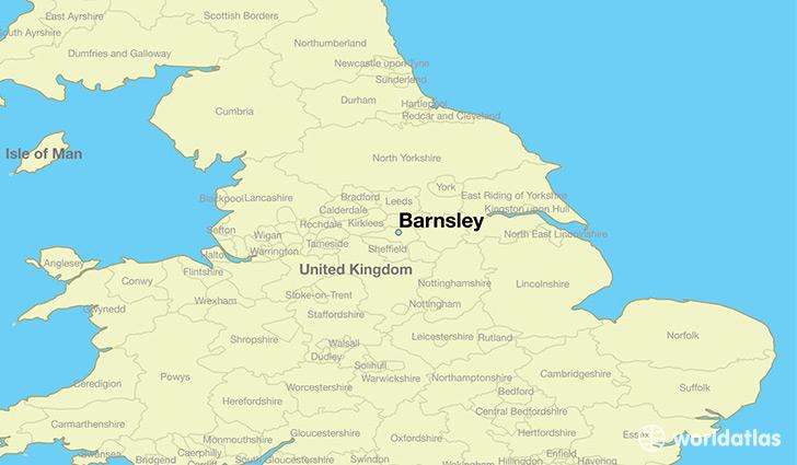 Where is Barnsley England Barnsley England Map WorldAtlascom