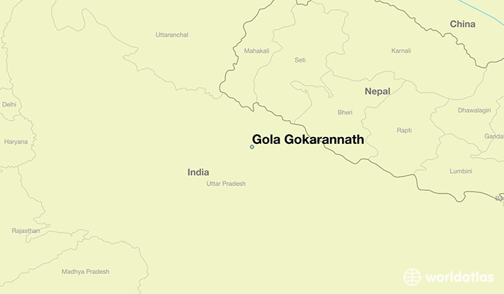 map showing the location of Gola Gokarannath