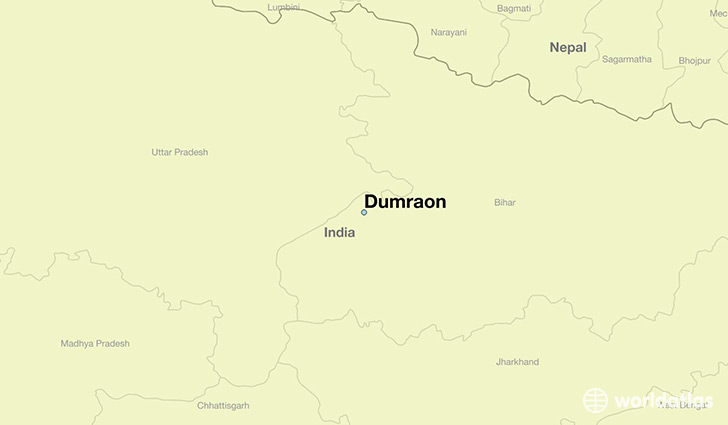 map showing the location of Dumraon