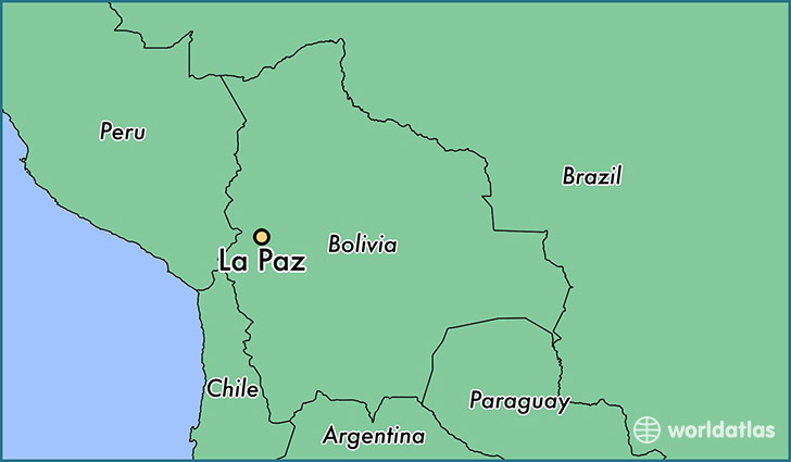 Where is La Paz Bolivia La Paz La Paz Map WorldAtlascom