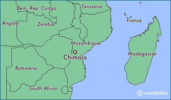 map showing the location of Chimoio
