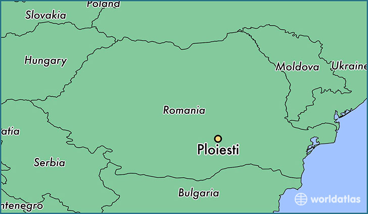 map showing the location of Ploiesti