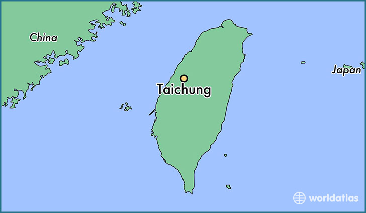 map showing the location of Taichung